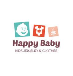 baby shop logo template vector image vector image