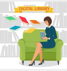 digital library concept vector image vector image