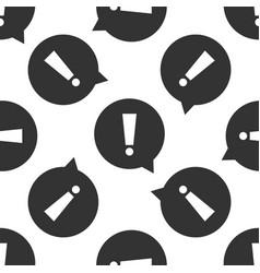 exclamation mark in circle hazard warning symbol vector image