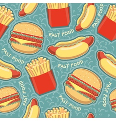 fast food seamless pattern background food texture vector image vector image