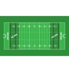 Grass Textured American Football Field vector image
