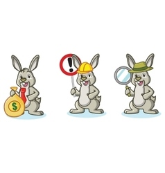 Light Green Bunny with money vector image vector image
