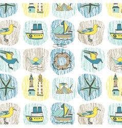 marine sketch wallpaper vector image