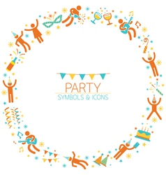 Party people wreath vector
