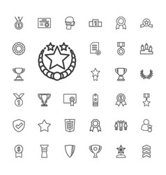 33 award icons vector