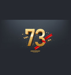 73rd year anniversary background vector