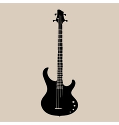 A silhouette of an electric guitar vector image