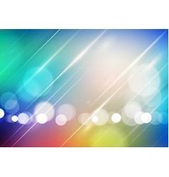 Abstract bokeh light on blurred colors background vector