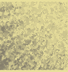Abstract retro background with halftone texture vector