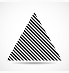 abstract triangle lines geometric shape vector image