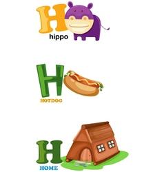 alphabet letter - H vector image