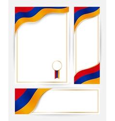 Armenia flag banners set vector image