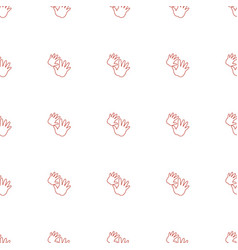 baby hands icon pattern seamless white background vector image