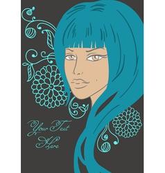 beautiful girl fashion style vector image vector image