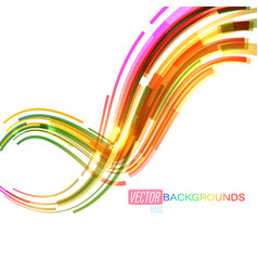 bright colors curved on a white vector image