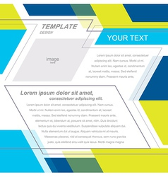 brochure template design geometric abstract vector image