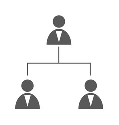 Business structure icon simple vector