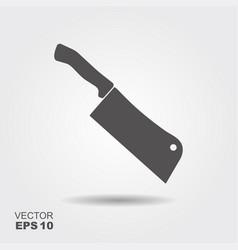 butcher knife kitchen knife and meat knife vector image