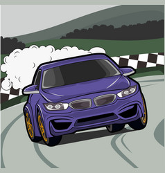 carracing on circuit vector image