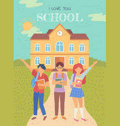Children education back to school pupil vector