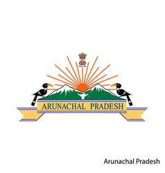 Coat arms arunachal pradesh is a indian vector