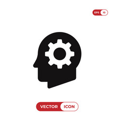 cog in head icon vector image