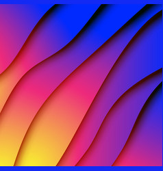 colorful gradient paper cut abstract vector image