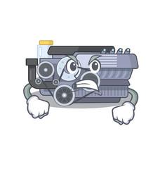 Combustion engine cartoon character design having vector
