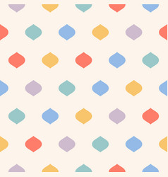 cute colorful polka dot seamless pattern funky vector image