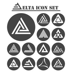 Delta letter icons set vector image