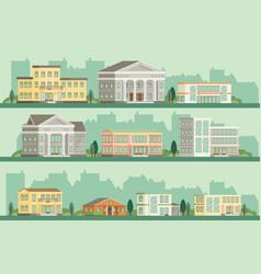 flat buildings vector image vector image