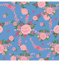 Floral Background Seamless Pattern Flowers vector
