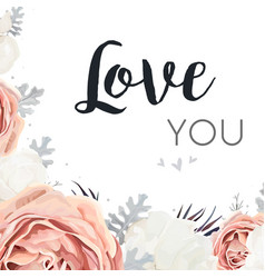 Floral design card with rose flowers vector