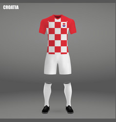 football kit of croatia 2018 vector image