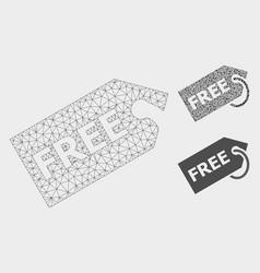 Free mesh carcass model and triangle mosaic vector