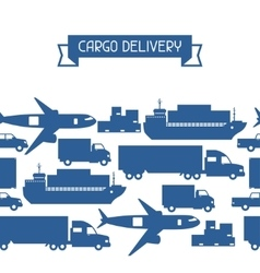 Freight cargo transport icons seamless pattern in vector image