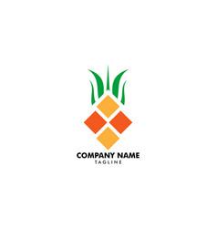 geometric pineapple fruit logo design symbol vector image