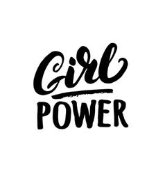 Girl power hand written lettering vector image