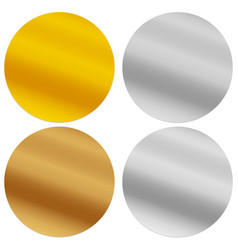 Gold silver bronze and platinum seals awards vector