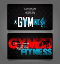 Gym business card vector