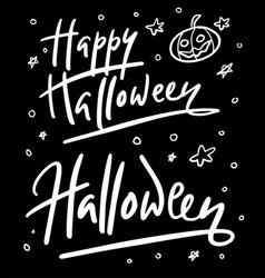 Halloween party hand written typography vector