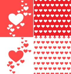 heart pattern vector image