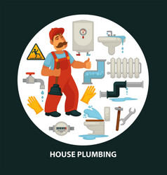 House service flat poster for kitchen or vector