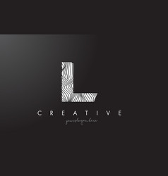 Il i l letter logo with zebra lines texture vector