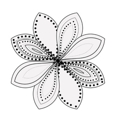 Isolated silhouette of abstract flower design vector