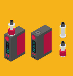 Isometric icon of vape device vector