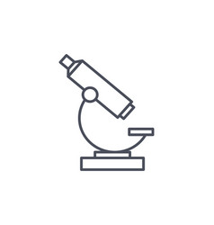 laboratory microscope with single objective vector image