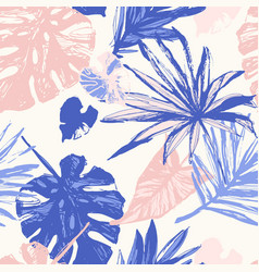 line art hand drawn grunge textured tropical vector image