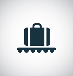 Luggage on airport icon vector