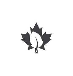 maple leaf icon design template isolated vector image